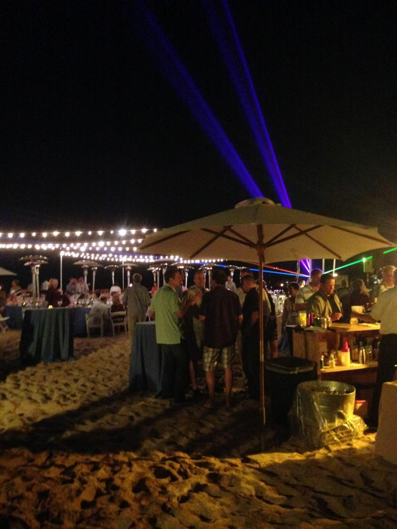 Beach Corporate Event